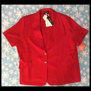 Requirements Red Short Sleeve Blazer
